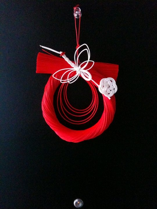 Japanese traditional new-year ornament, hung on the door