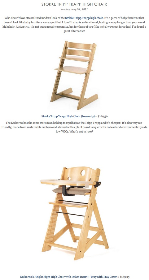 copy cat chic find stokke tripp trapp high chair vs keekaroo 39 s height right high chair baby. Black Bedroom Furniture Sets. Home Design Ideas