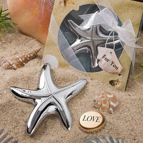 Starfish Bottle Opener by Beau-coup - super cute wedding or shower favor for a beach theme