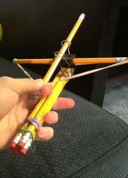 DIY pencil crossbow