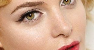 Braut Make-up: Hollywood Glamour (BridesMagazine.co.uk) Rote Lippen und Fliegen …