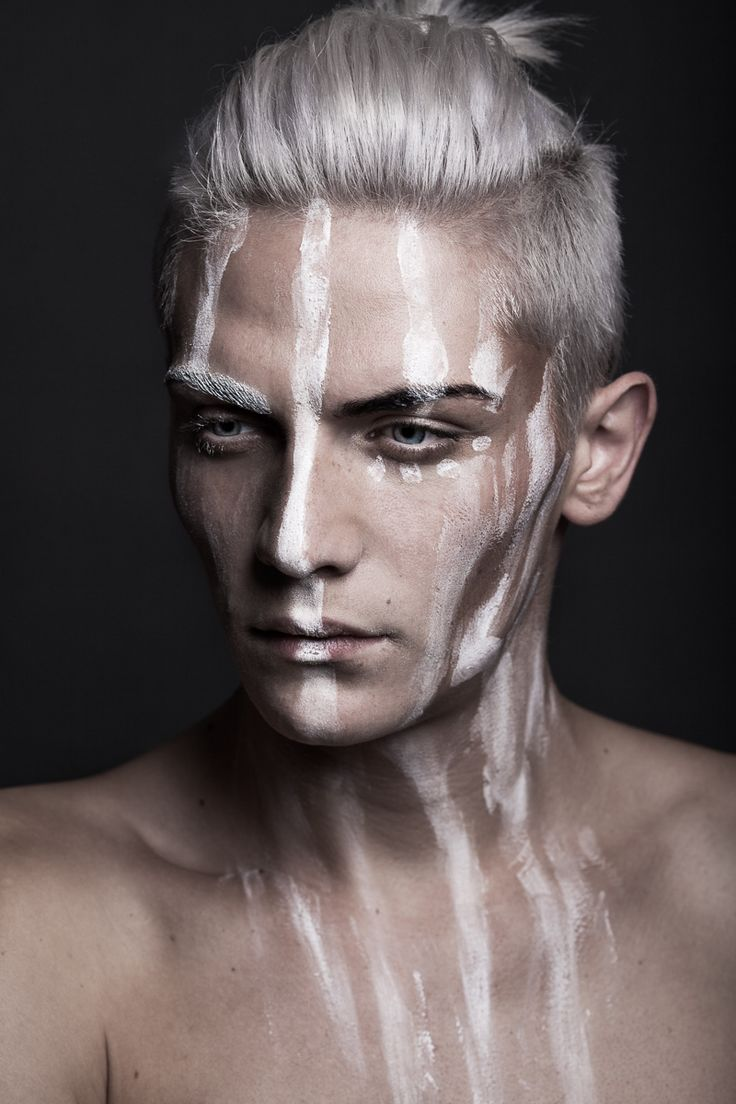 "darkbeautymag: "" Photographer: Katja Hofmann and Bernd Hofmann​ - linsengerecht.de Hair/Makeup: Kerstin Hoppe - KH VISA​ Model: David Balheim​ """