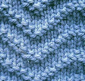 ściegi na drutach - wypukłe zygzaki