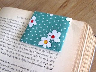 EASY Bookmark made from a Magnetic Business Card! Great Teacher's Gift! (I'll probably use scrapbook paper, but same general idea.)