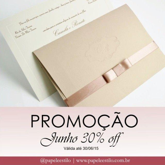 Bom dia com Promoção de Junho!  Lindo convite Camila com 30% off!  Mas corre porque é só até dia 30/06! Para orçamentos: premium@papeleestilo.com.br Detalhes: http://www.papeleestilo.com.br/promocao/promocao-de-convite/ #PapeleEstilo #promomensal #promoção #promodejunho #convite #casamento #wedding #blogdecasamento #noivas #brides #grooms #party #convutetop