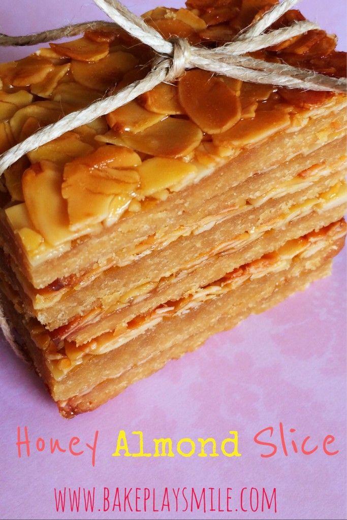 Honey Almond Slice - Bake Play Smile