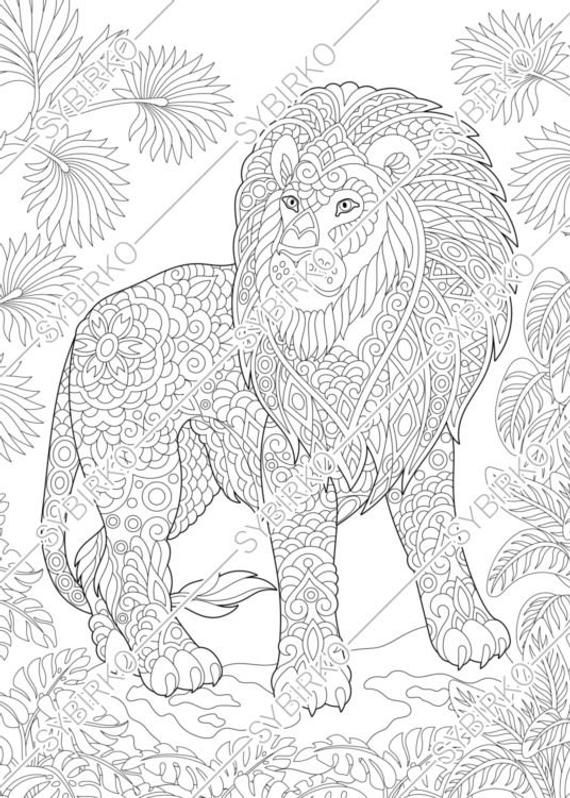 Cute Jungle Animal Bookmarks - PDF Zentangle Coloring Page ... | 798x570