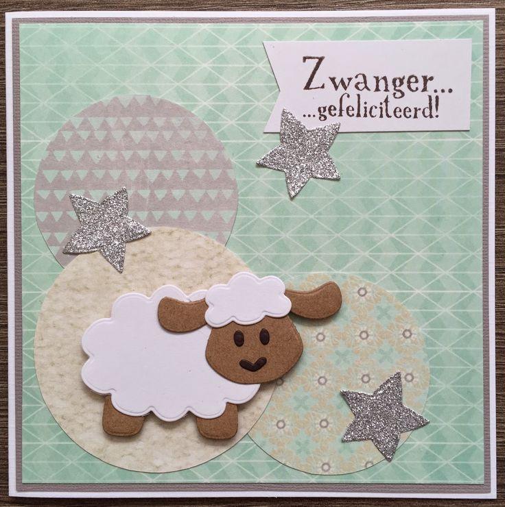 LindaCrea: Zwanger #3 - Schaapjes & Bijpassende Wiebelkaart