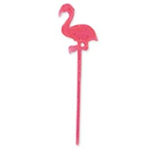 Pink Flamingo Luau Plastic Party Picks Cocktail Food Cupcake Deco - 24 Pack