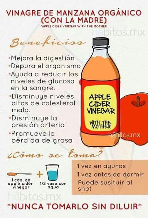 Como tomar vinagre de manzana y sus beneficios