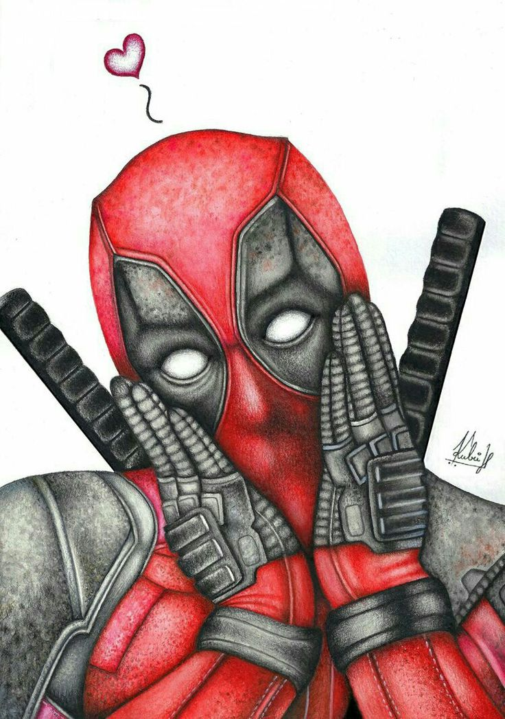 #Deadpool #Fan #Art. (Deadpool) By: HedvikaKubu. (THE * 5 ...Deadpool Sketch
