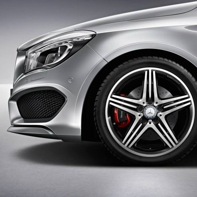 The CLA250 gets even more athletic with the new Sport Package Plus. Wearing an AMG-developed front axle and suspension, a more aggressive exhaust setup and exclusive 18-inch AMG wheels outside, plus MB TEX/DINAMICA sport seats and red top-stitching throughout the interior, it's the CLA250 made even sharper.