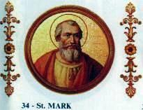 October 7th is the Feast of: Pope St. Mark (? - 336) was Pope from 18 January to 7 October 336. Little is known of his early life. According to the Liber Pontificalis, he was a Roman, and his father's name was Priscus. Mark succeeded St. Sylvester as pope on 18 January 336. He held office only eight months and twenty ...(See the rest of his story here:) https://www.facebook.com/St.Eugene.OMI/