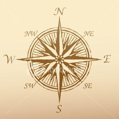Vintage Compass Tattoo Idea
