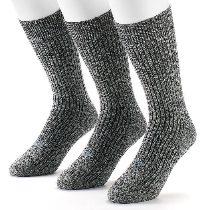 Men's Columbia Sportswear 3-pack Cushioned Casual Crew Socks, Size: 10-13, Grey