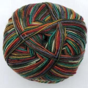 Hot Socks Stripes 4-fach superwash - Carneval stripes 1661-618, 75% Merino superwash by ColorfullmadeShop on Etsy