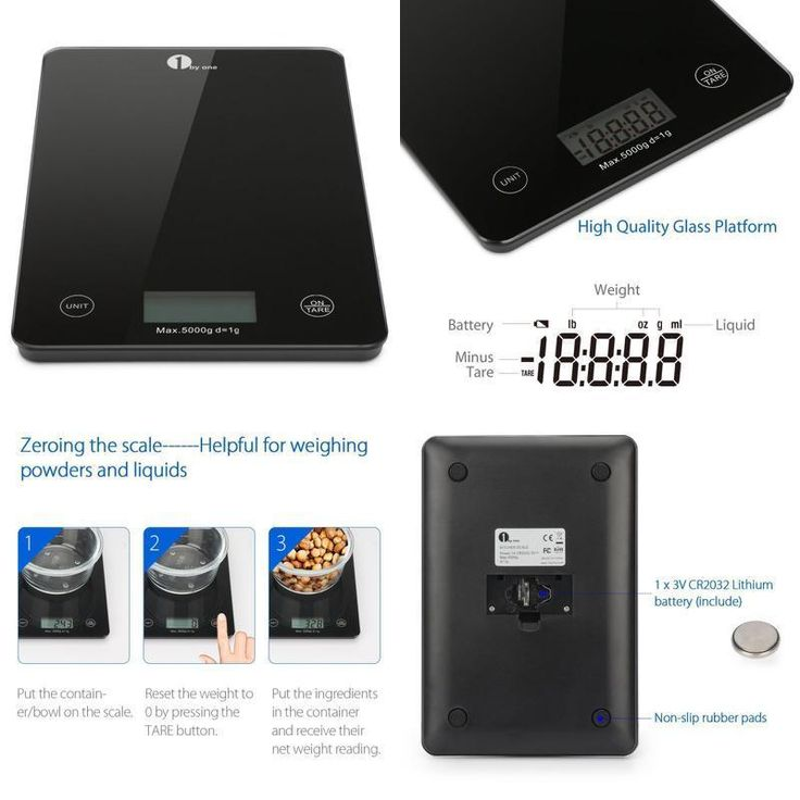 Digital kitchen Scale Electronic Cooking Food Weighing Scales Tempered Glass