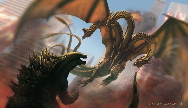 Godzilla vs King Ghidorah by NoBackstreetboys.deviantart.com on @deviantART
