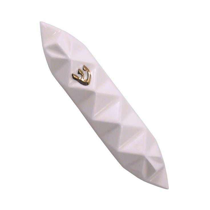 Origami Mezuzah by Studio Armadillo: White