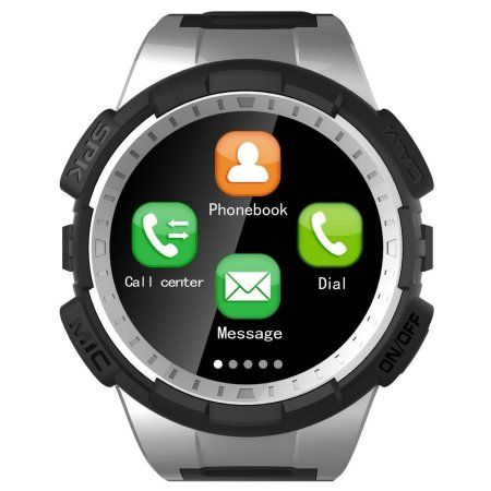 TechComm V11S Bluetooth and GSM Unlocked Smartwatch with Fitness Tracker, Pedometer, Sleep Monitor, Remote Camera and Bluetooth Music Play - Silver
