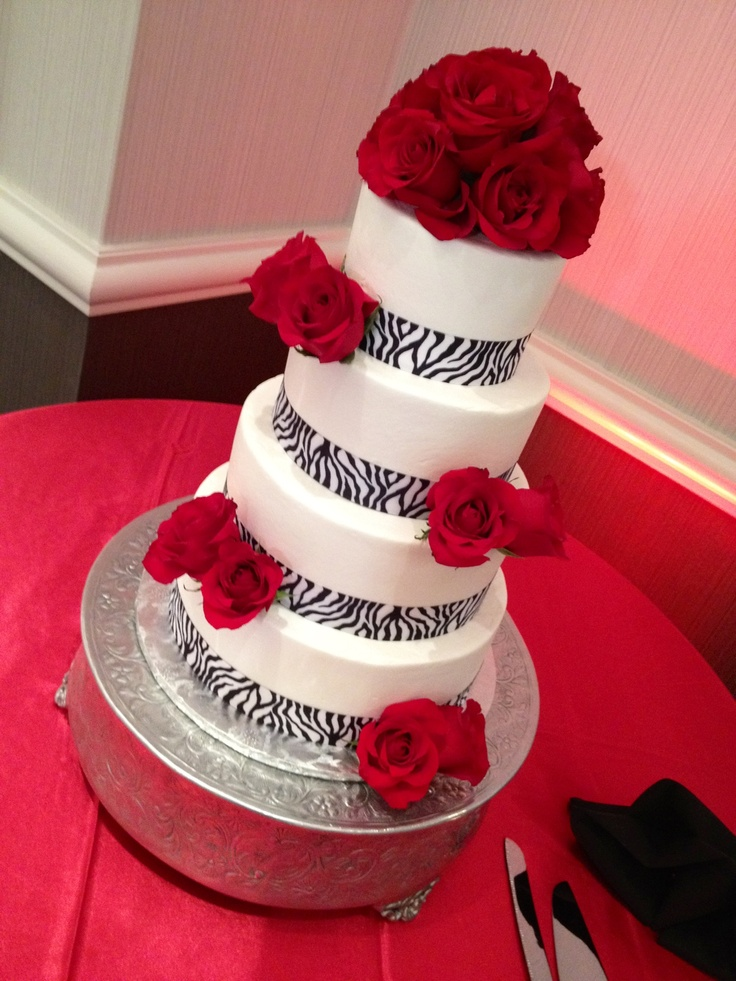 Zebra Print Wedding Cake Www Annacakes Com Wedding Cakes