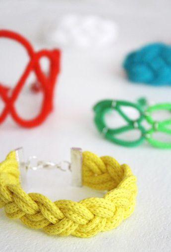 Tu es, sei mal wieder kreativ und mache Dir Deinen eigenen sommerlichen Schmuck aus Seilen! // Luloveshandmade: Colorful DIYs for a Bright Summer