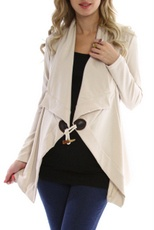 Cute and Cheap Maternity Clothes! Beige Maternity Jacket/Blazer
