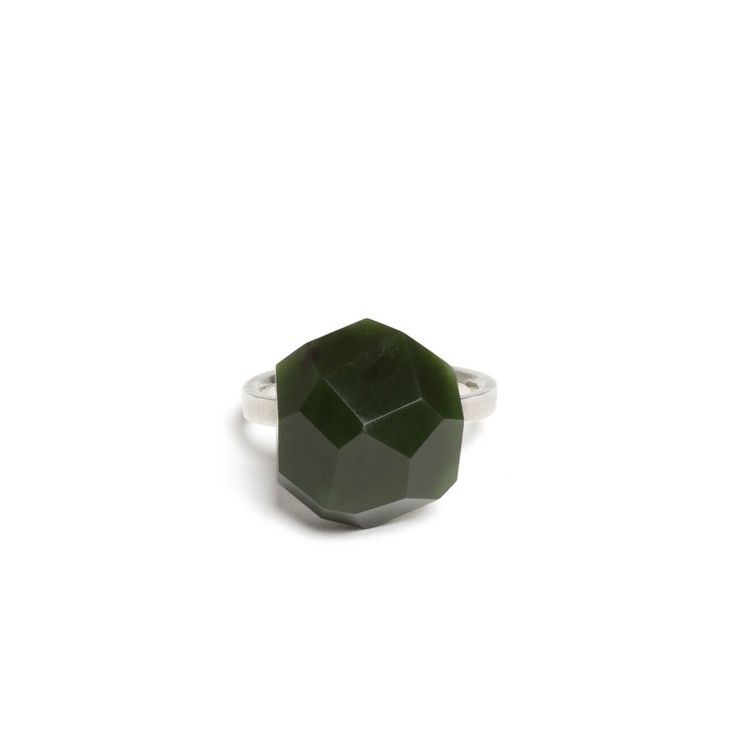 Russian Jade Faceted Rock Ring