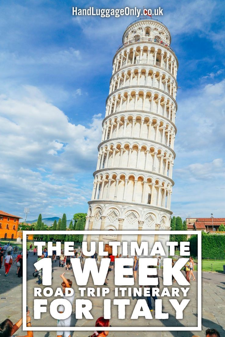 The Ultimate 1 Week Road Trip Itinerary For Italy - Hand Luggage Only - Travel, Food http://finelinedrivingacademy.co.uk