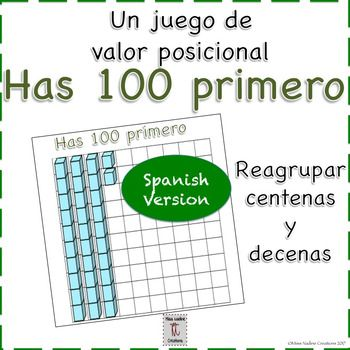 Spanish VersionQuick and easy game. Build place value concept of regrouping in a fun way! Game for up to four players but can be easily adapted.  Includes a directions page to display at a math center. Includes printable base ten blocks. Die needed! Included you will find a color version and a black and white version to meet your printing needs.Available in English and as an English/Spanish bundle: English Version Bilingual VersionCheck out other $1 items: $1 Section