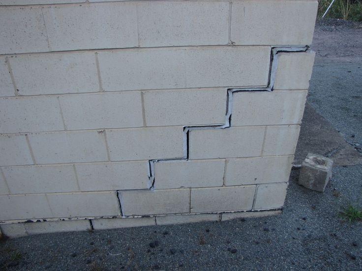 Crack in bloclkwork wall (QR Substation) https://www.cornellengineers.com.au