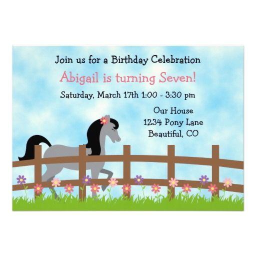 358 best Horse Birthday Party Invitations images – Buy Birthday Invitations