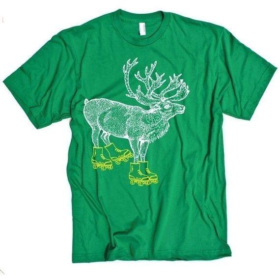 Caribou on Rollerskates t-shirt: Rollerskates T Shirt, Funny Caribou, Etsy, Men Shirts, Critterjitters, Tshirt Rollerskates, Caribou Tshirt, Rollerskates Mens