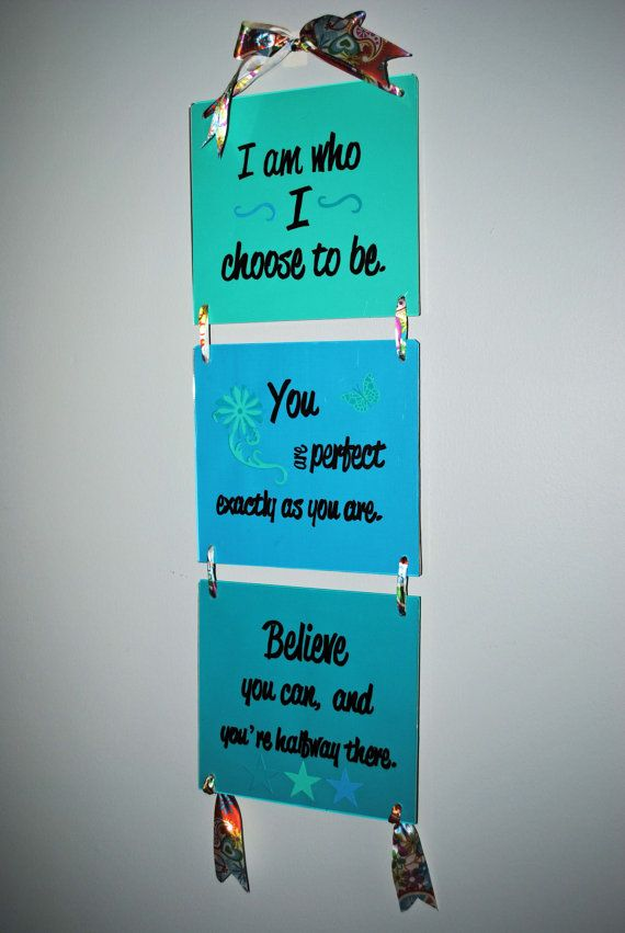 Affirming wall hanging wall art teen tween by bridgetscollection room decor pinterest - Teenage wall art ideas ...