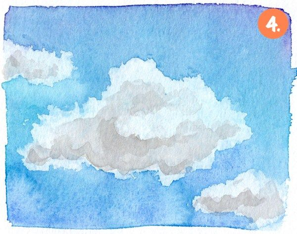 Malen Lernen Mit Aquarell Himmel Mit Wolken Malen Lernen