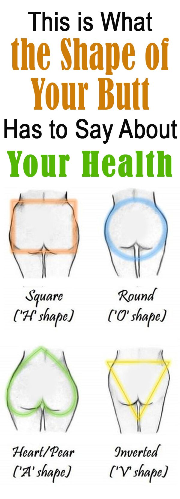 This is What the Shape of Your Butt Has to Say About Your Health | Interesting | Healthy Eon #shapes #shapeofyourbutt #booty #yourhealth