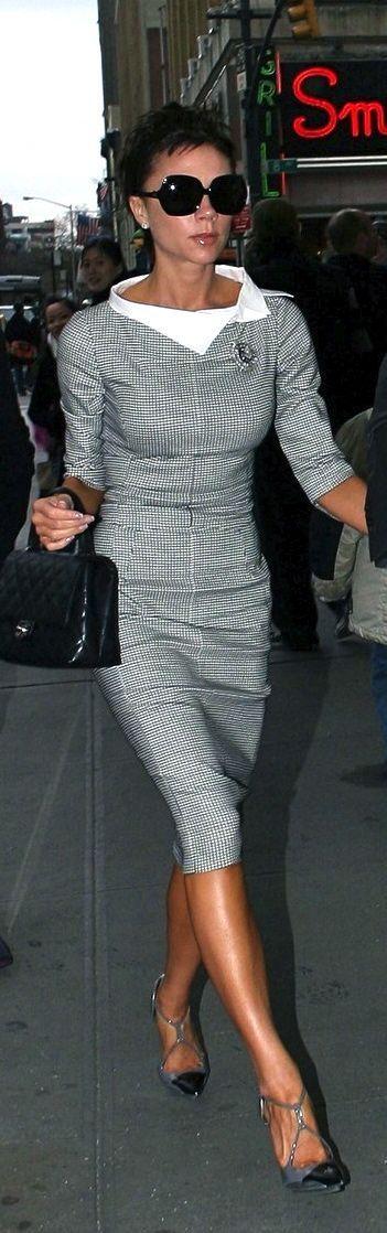 Nyangi Styles: Midi Body Con Dresses: Victoria Beckham Designs