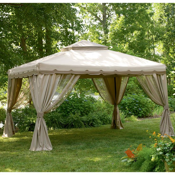 garden winds replacement gazebo cover for gazebos sold at sears art pinterest gardens. Black Bedroom Furniture Sets. Home Design Ideas