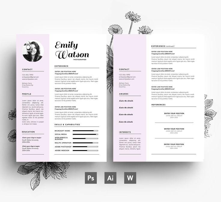 resume custome template editable psd template - Template Professional Resume