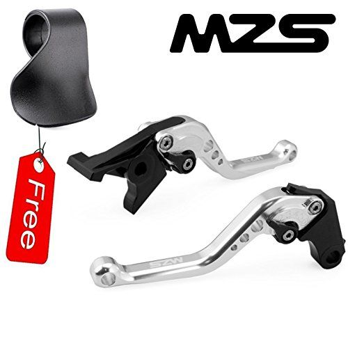 MZS Short Brake Clutch Levers for Yamaha FZ-09/MT-09/SR (Not FJ-09) 2014-2016,XJ6 DIVERSION 2009-2015,XSR 700 ABS 2016,XSR 900 ABS 2016,XV 950 Racer 2016-Silver