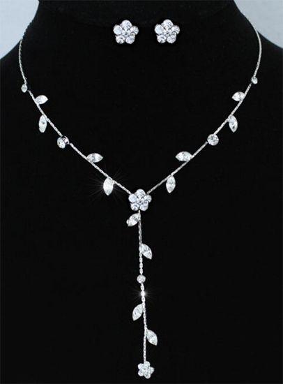 """Κοσμήματα :: Επίσημο Νυφικό Σετ Κολιέ Και Σκουλαρίκια Με Κρύσταλλα """"Zandra"""" - http://www.memoirs.gr/"""