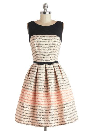 What to wear to EH's wedding this summer? Promoting Elegance Dress in Bubbles, #ModCloth