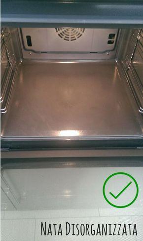 il forno è spledente, grazie ad acqua e bicarbonato