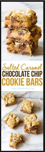 Salted Caramel Chocolate Chip Cookie Bars   Food And Cake Recipes