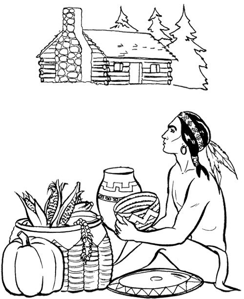 11 best Pilgrims & Indians images on Pinterest | Coloring pages ...
