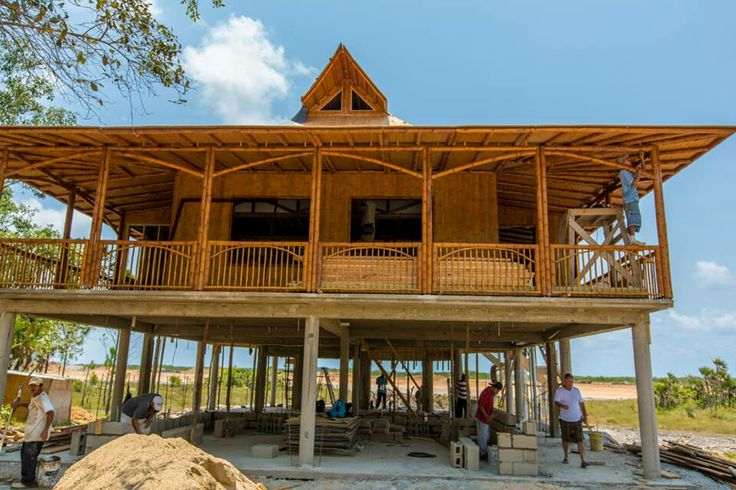 Almost completed Bamboo home..crazy cool
