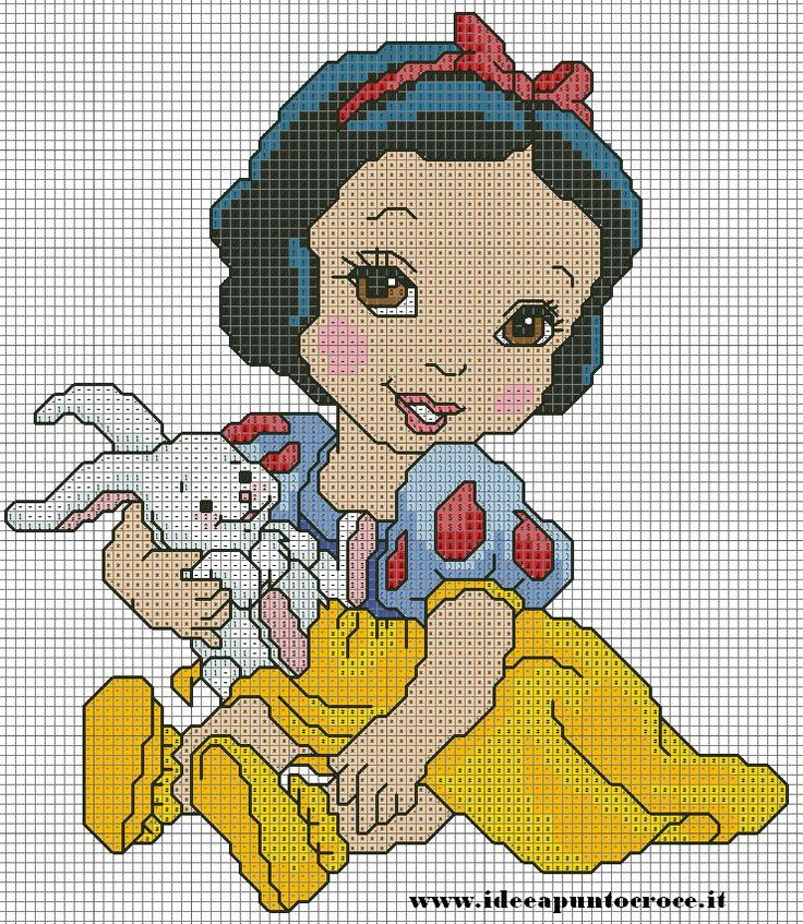 BABY snow white cross stitch