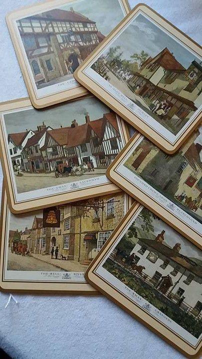 Vintage Boxed Set of 6 Cork Backed Traditional Placemats Pimpernel English #Pimpernel
