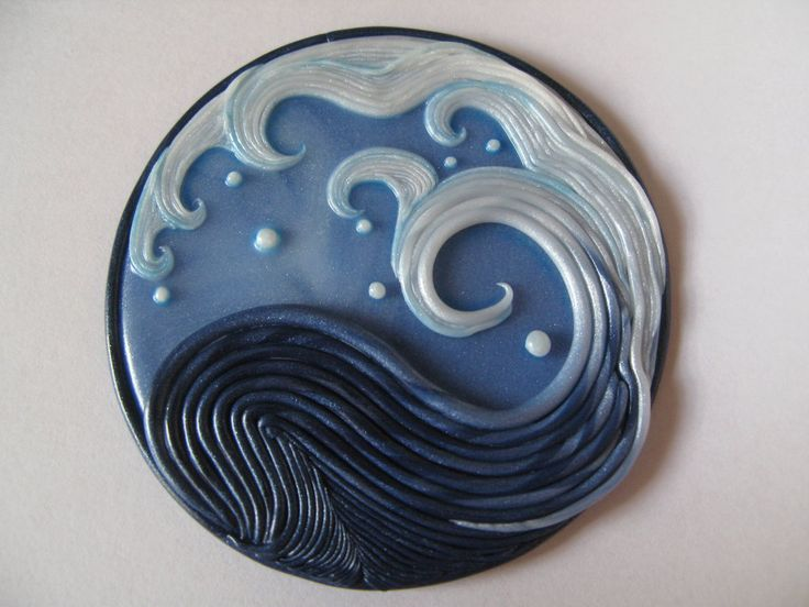 Fimo decoration Kanagawa's wave_the return by kamen-kage on DeviantArt