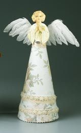Vintage Paper Angel · Crafts For ChristmasChristmas DecorChristmas Angel  OrnamentsChristmas IdeasPaper ...